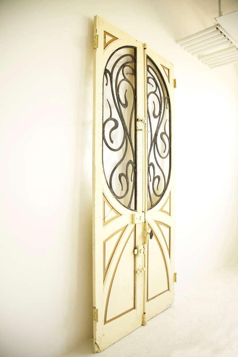 French Pair of Art Nouveau  Doors For Sale