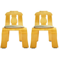 Pair of Robert Venturi Empire Chairs