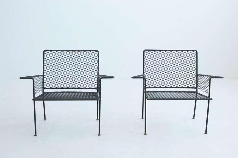 Pair Of Van Keppel Green Outdoor Club Chairs 2