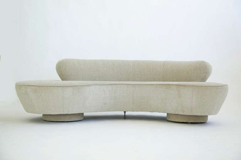 Vladimir Kagan Curved Sofa At 1stdibs