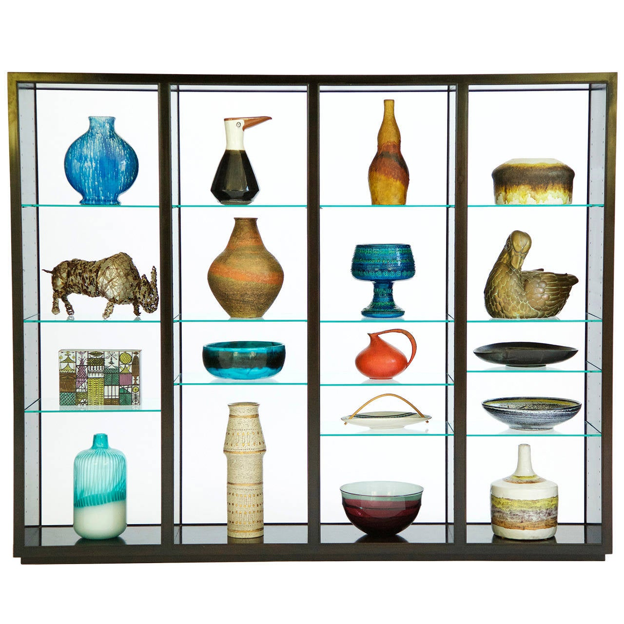 """Edward Wormley """"Superstructure"""" Room Divider Display Case 2"""