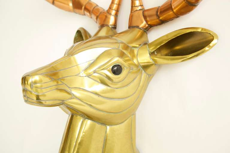 Sergio Bustamante Stag Head In Excellent Condition For Sale In Chicago, IL