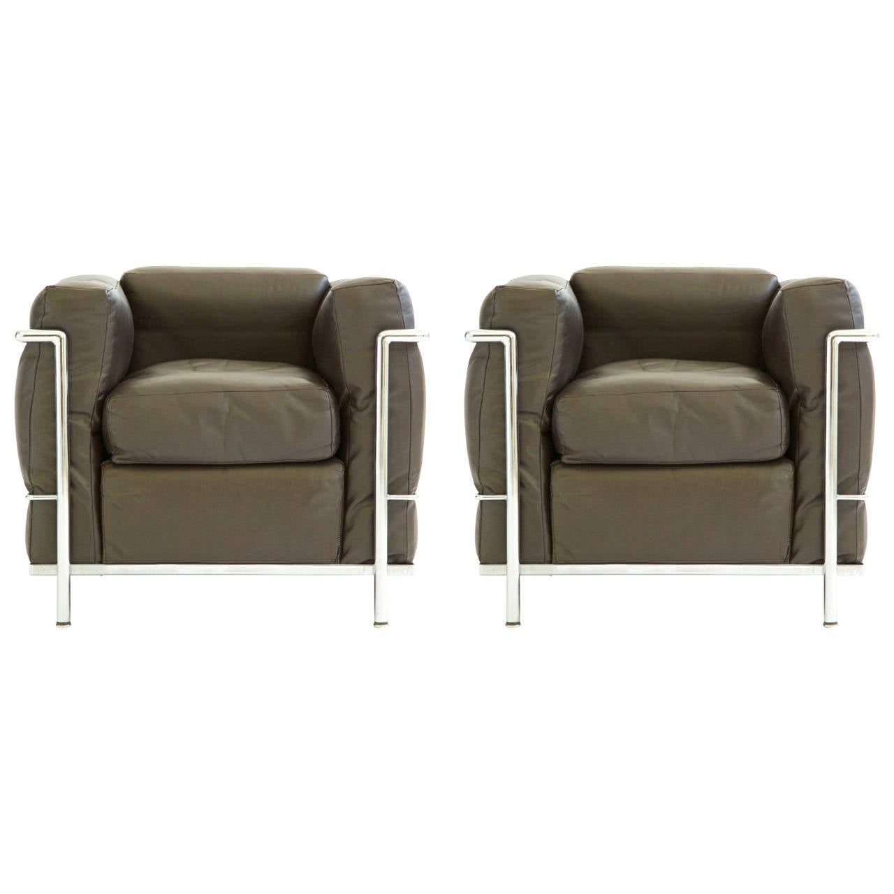 Le corbusier lounge chair - Pair Of Le Corbusier Lounge Chairs Lc2 1
