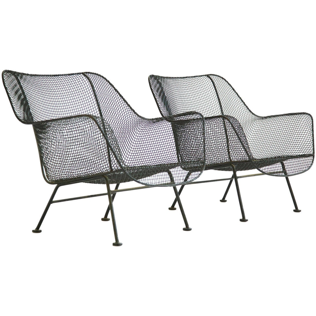Pair of russell woodard outdoor lounge chairs at 1stdibs for Woodard outdoor furniture