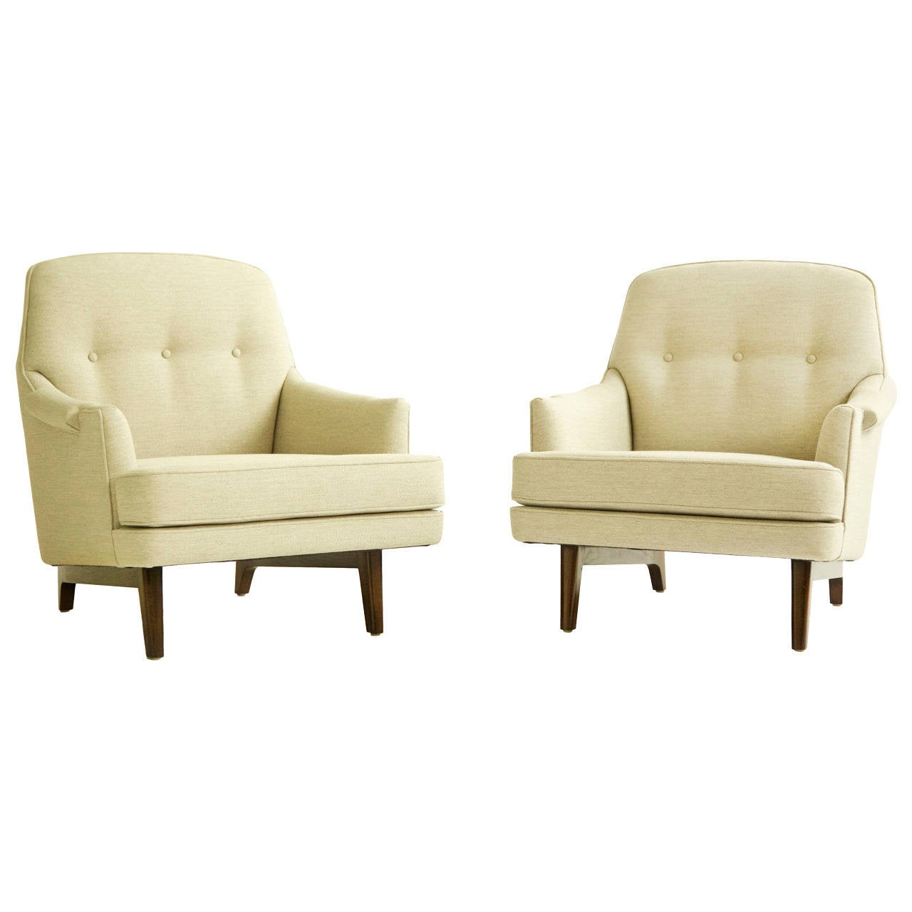 Pair of Roger Sprunger for Dunbar Lounges For Sale