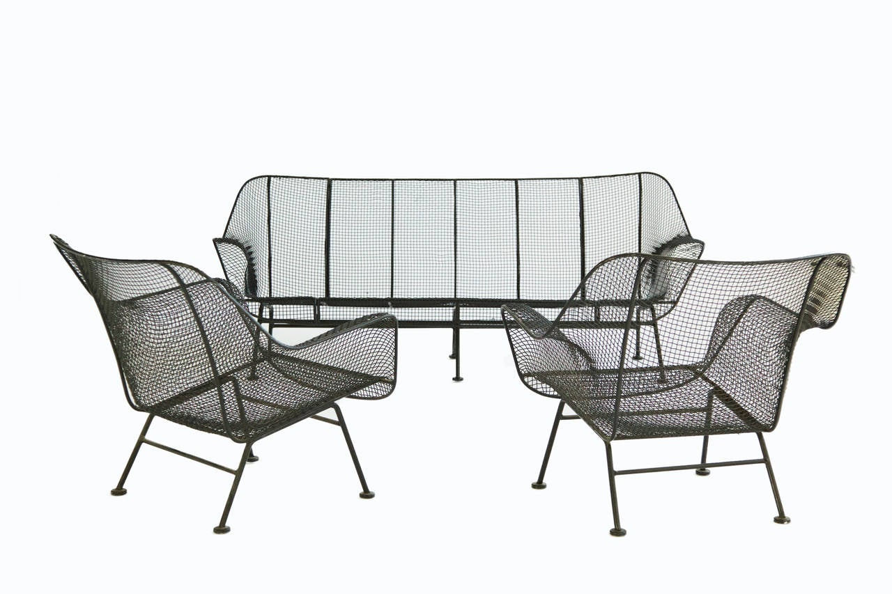 Pair Of Russell Woodard Outdoor Lounge Chairs At 1stdibs
