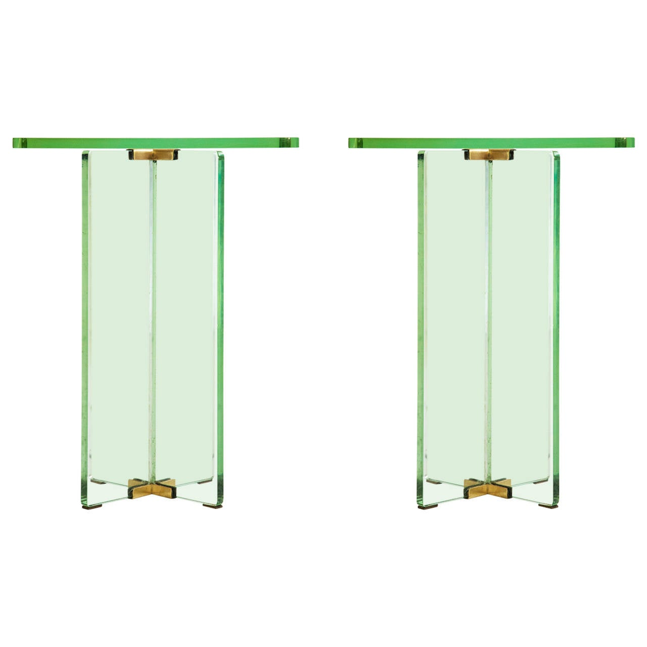 Pair of End Tables in the Style of Fontana Arte