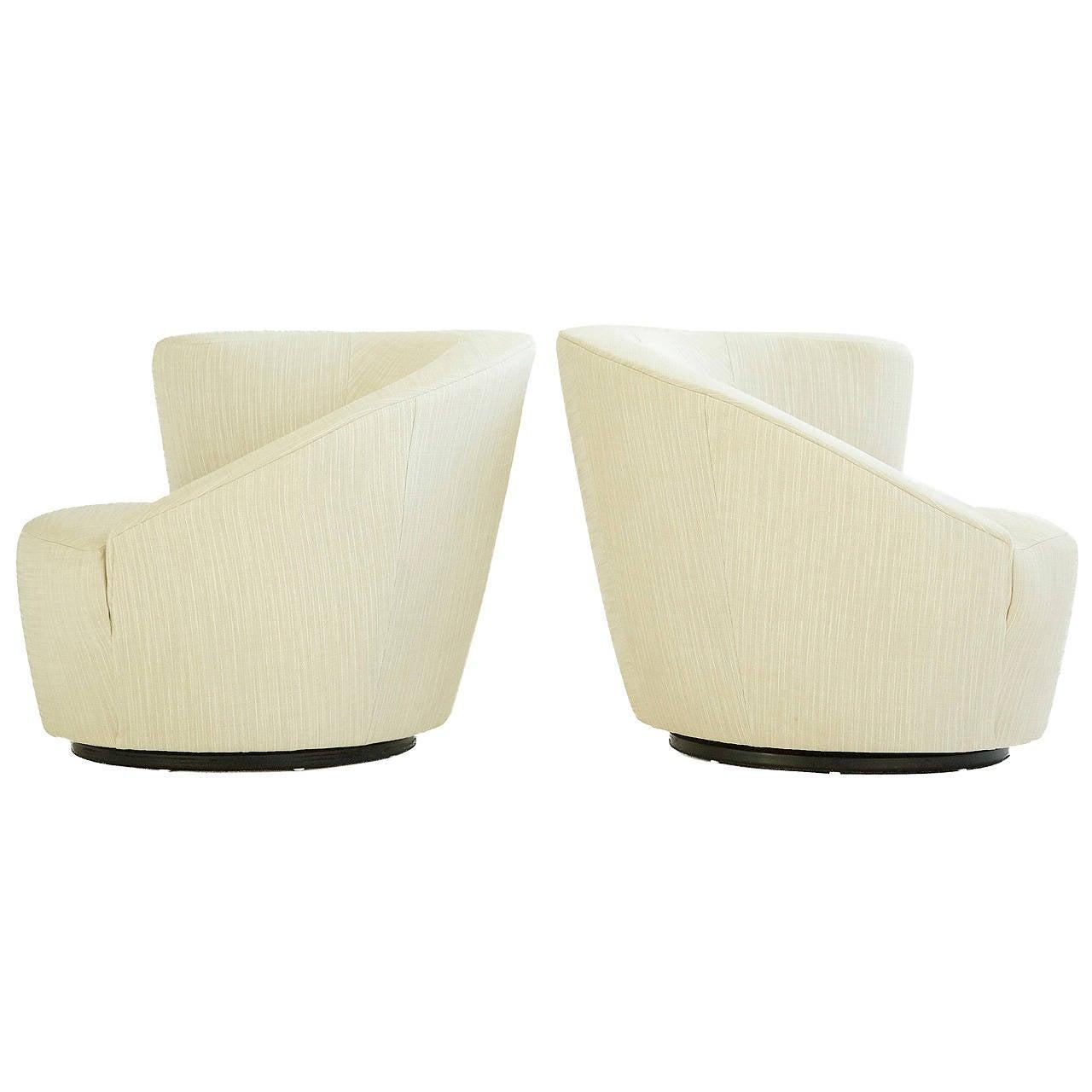 Vladimir Kagan Swivel Lounge Chairs For Sale