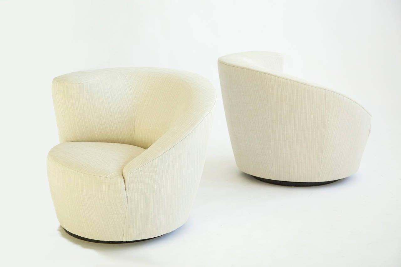 20th Century Vladimir Kagan Swivel Lounge Chairs For Sale