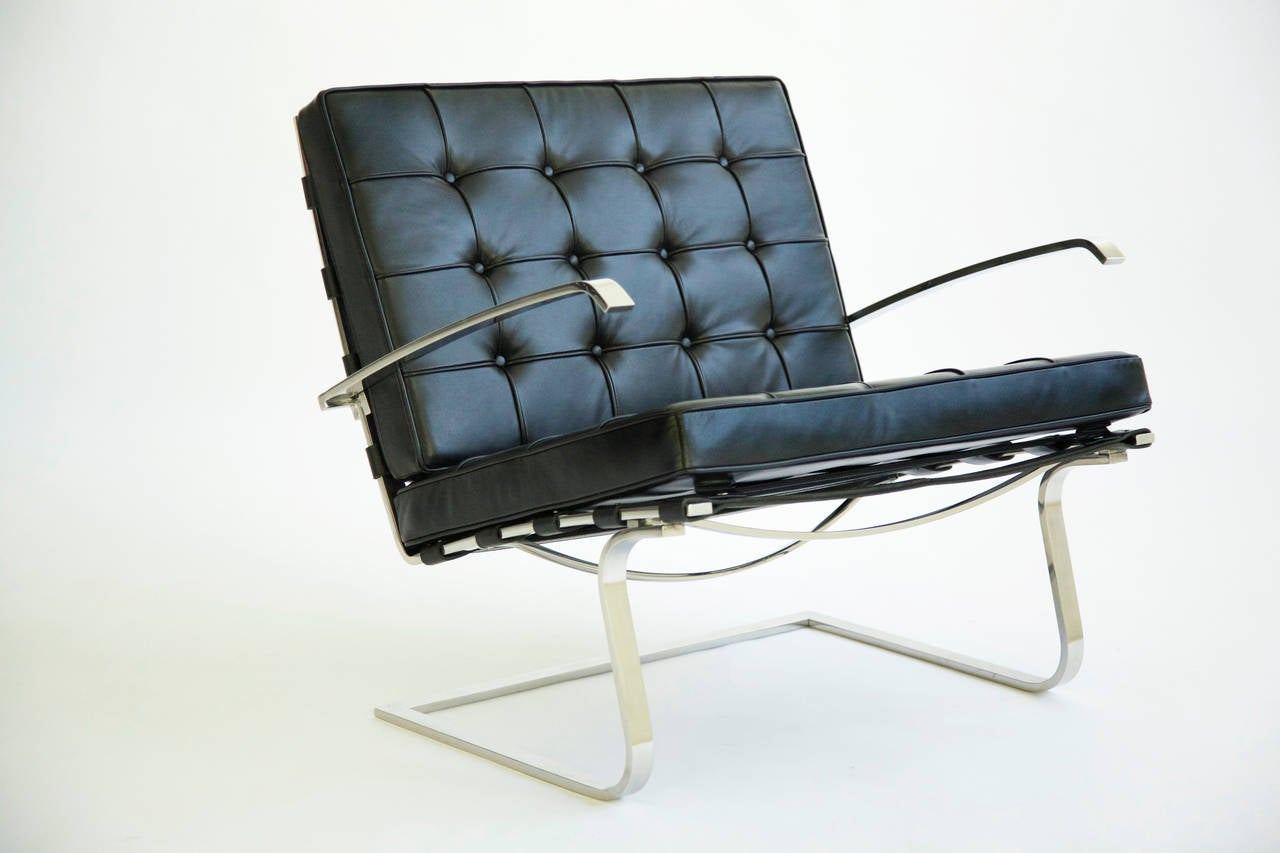 pair of mies van der rohe tugendhat chairs for sale at 1stdibs. Black Bedroom Furniture Sets. Home Design Ideas