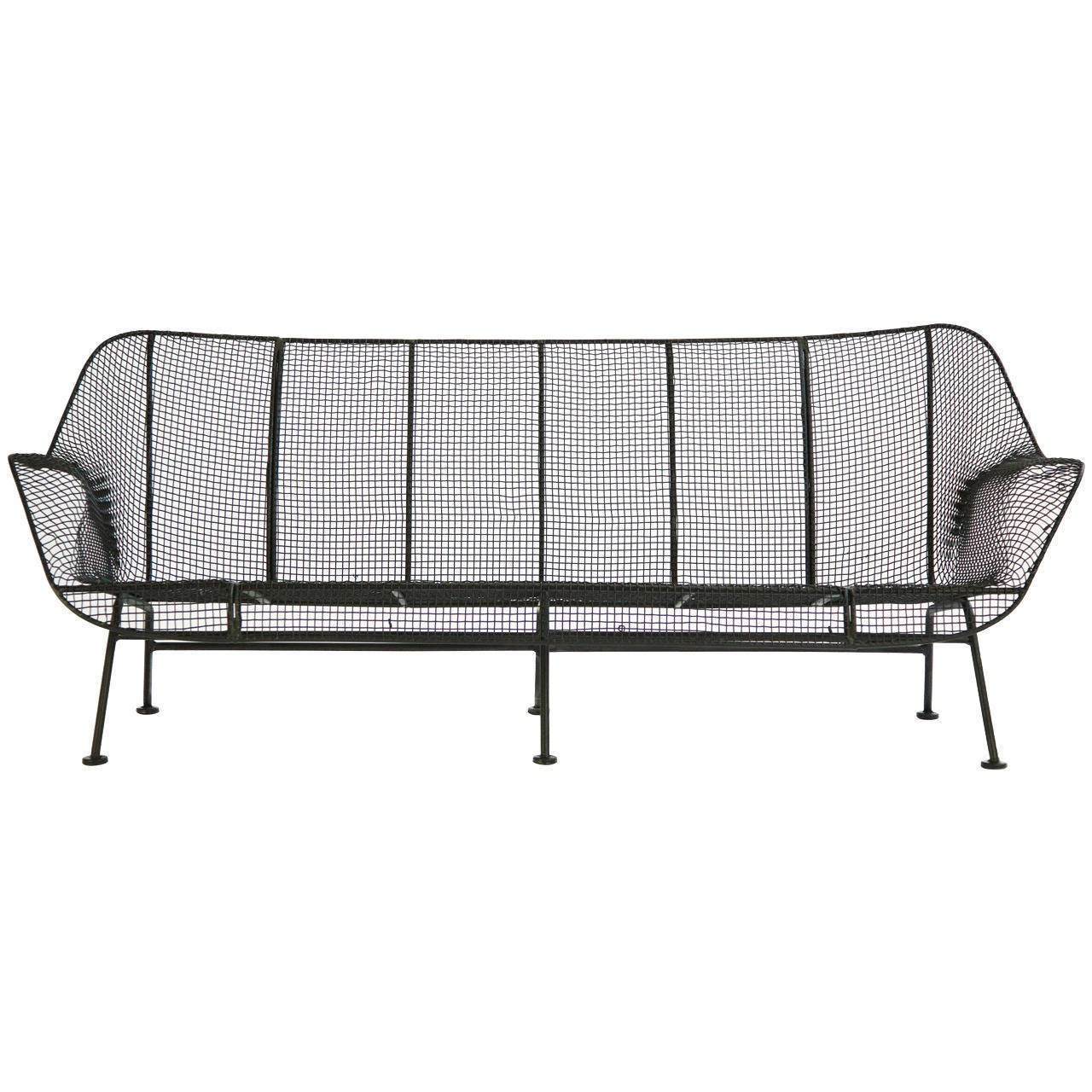 Russell Woodard Wire Mesh Settee At 1stdibs