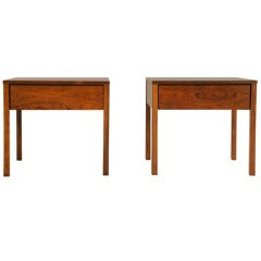 Florence Knoll Rosewood Night Stands