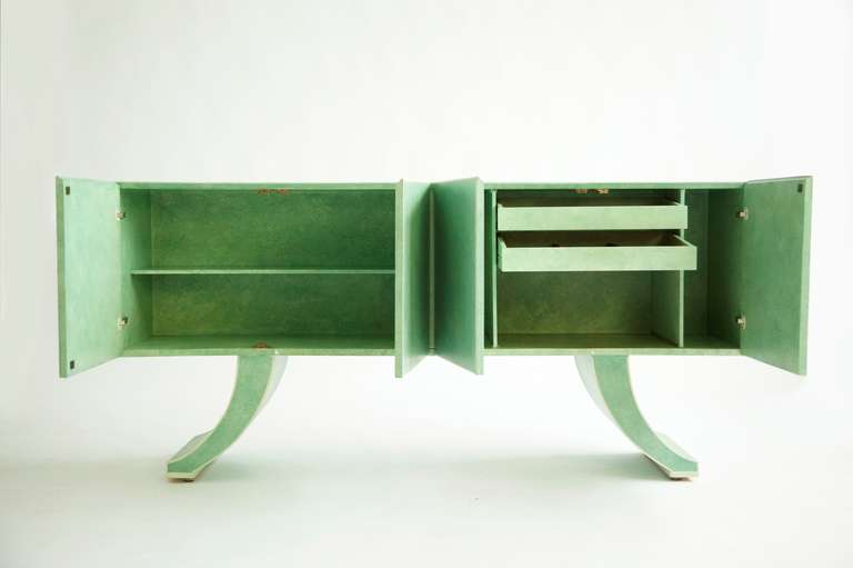 American Milo Baughman Sideboard Customized by Richard Himmel For Sale