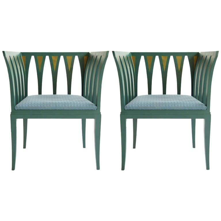 Pair Of Eliel Saarinen Armchairs At 1stdibs