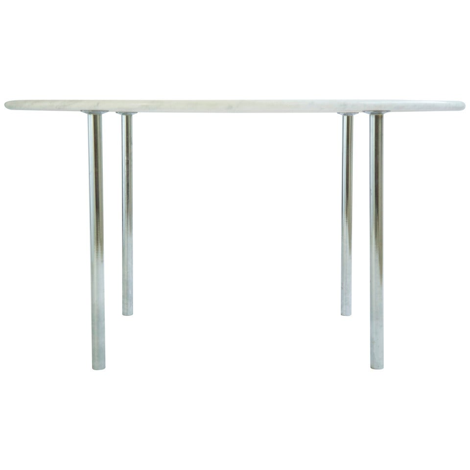 Laverne Carrara Marble Dining Table