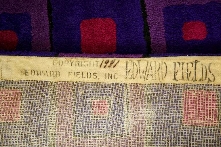 Verner Panton Rug for Edward Fields In Good Condition For Sale In Chicago, IL