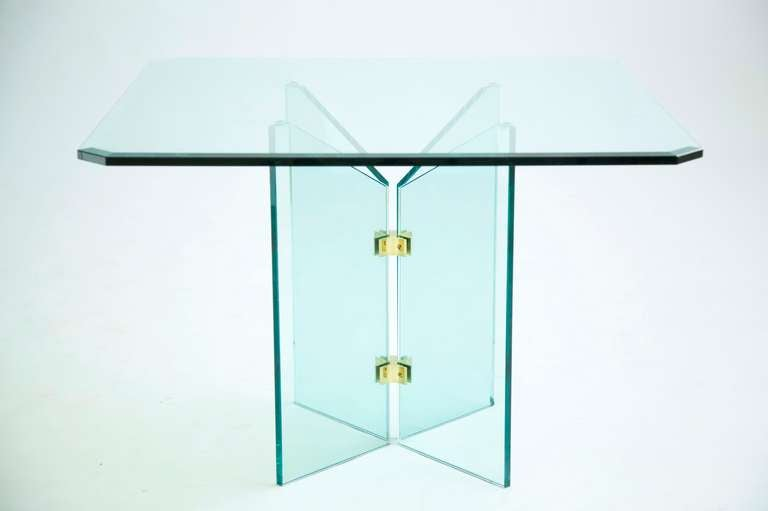 Pace Collection Brass And Glass Table 3