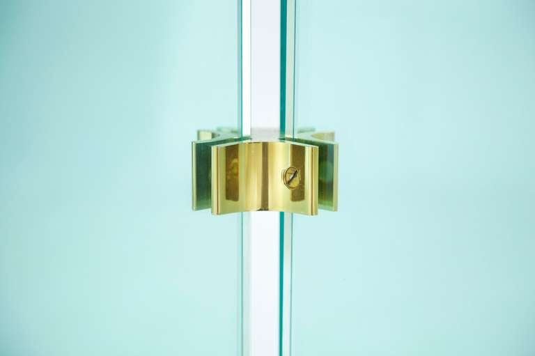 Pace Collection Brass and Glass Table 4