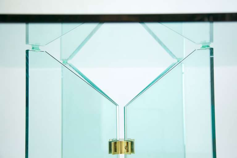Pace Collection Brass and Glass Table 6