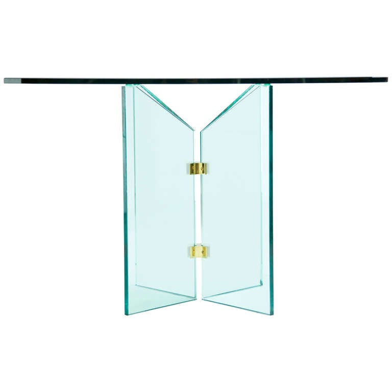 Pace Collection Brass and Glass Table 1