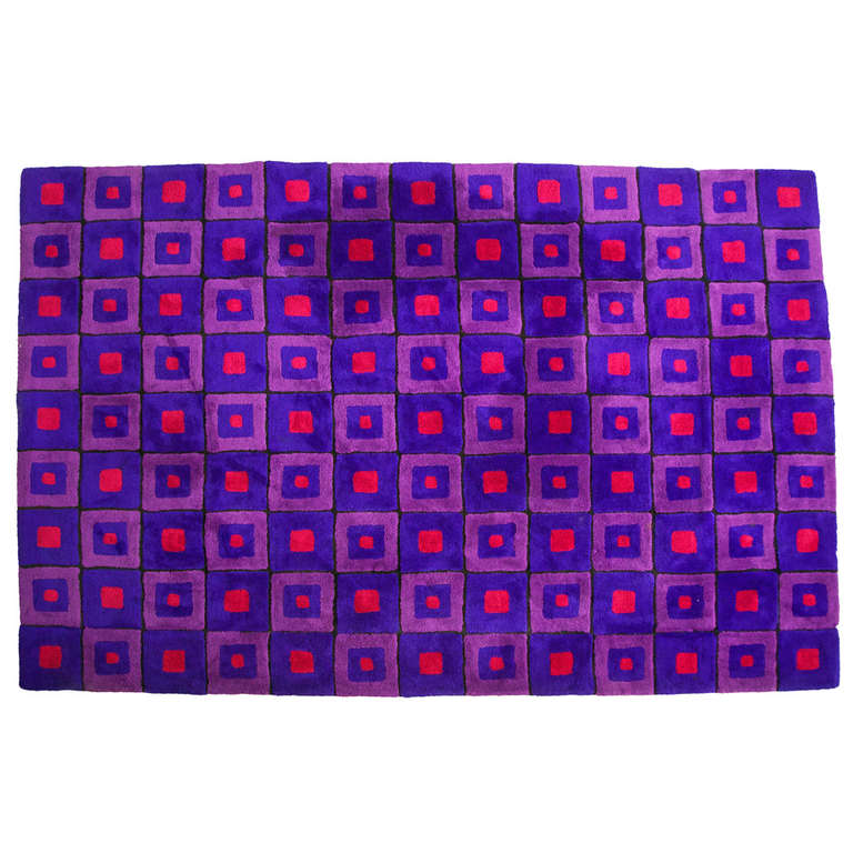 Verner Panton Rug for Edward Fields
