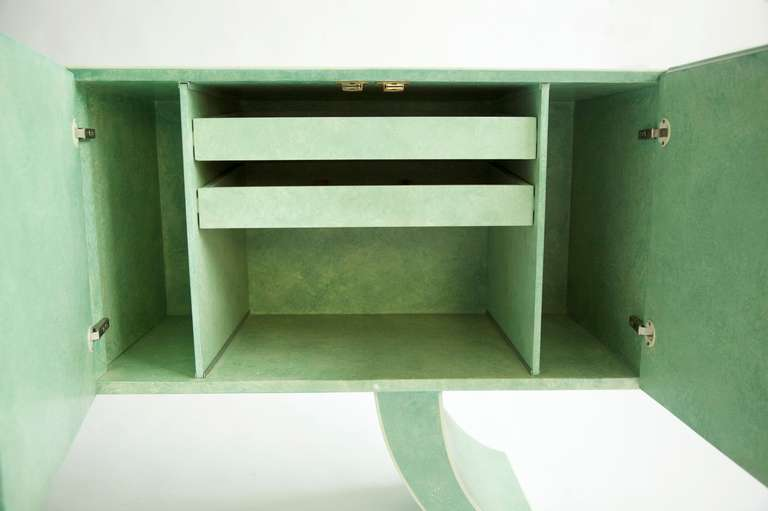 Milo Baughman Sideboard Customized by Richard Himmel In Good Condition For Sale In Chicago, IL