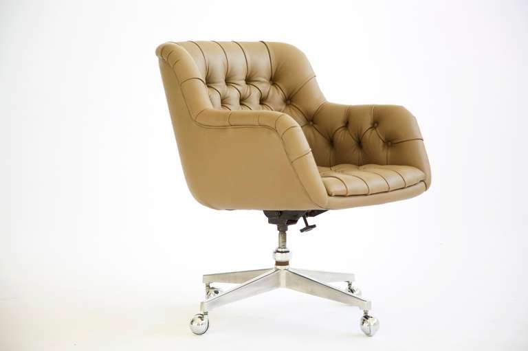 Edward Wormley Tufted Desk Chair at 1stdibs