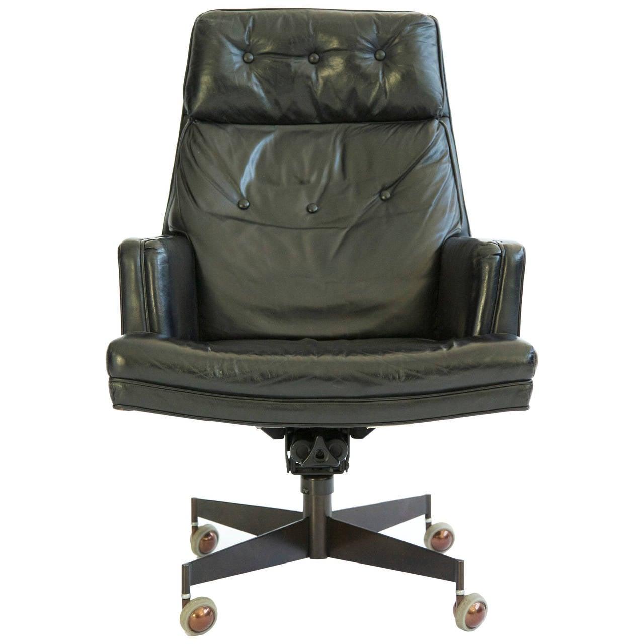 Edward wormley executive swivel chair at 1stdibs - Edward wormley chairs ...
