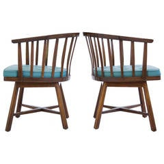 Pair of Edward Wormley Revolving Chairs