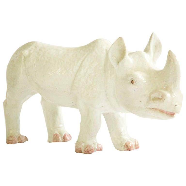 Large Ceramic Rhino
