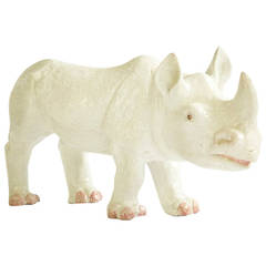 Large Ceramic Rhino