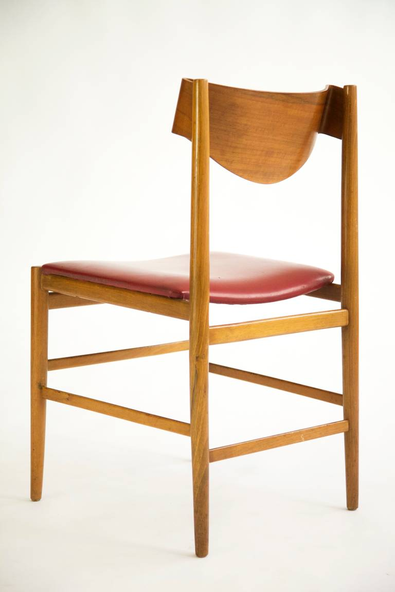 gianfranco frattini ribbon back dining chairs for sale at