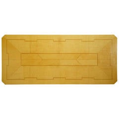 Tommi Parzinger Custom Parquetry Dining Table