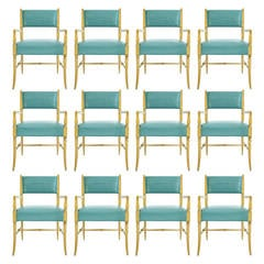 Tommi Parzinger Set of Twelve Dining Chairs