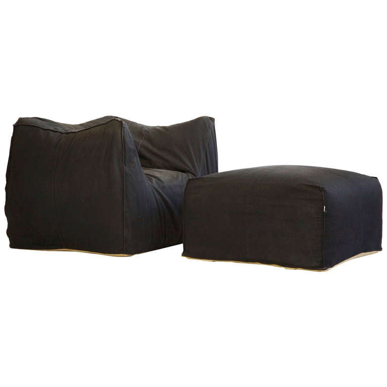 Mario Bellini Lounge Chair and Ottoman 1