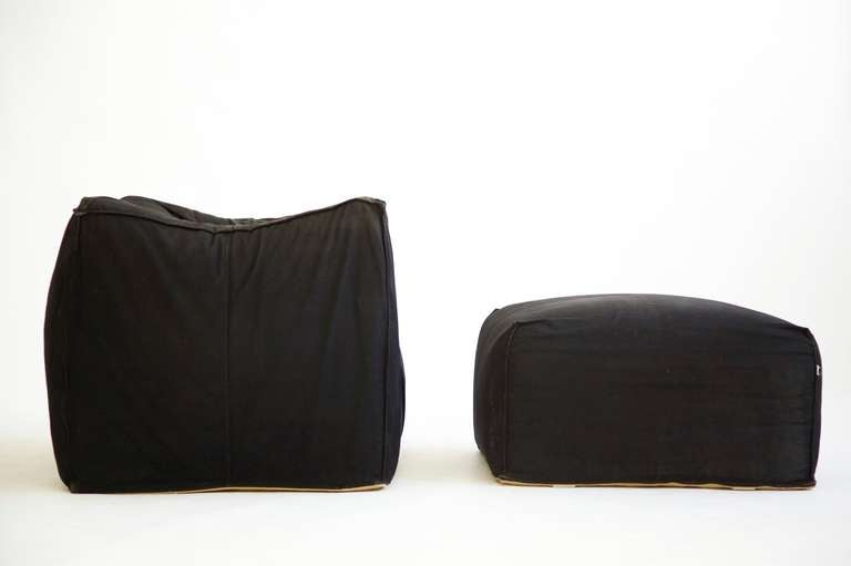Mario Bellini Lounge Chair and Ottoman 3