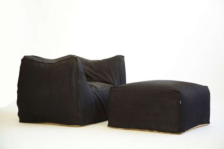 Mario Bellini Lounge Chair and Ottoman 2