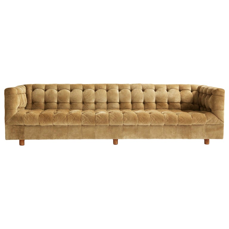 ward bennett chesterfield sofa at 1stdibs. Black Bedroom Furniture Sets. Home Design Ideas