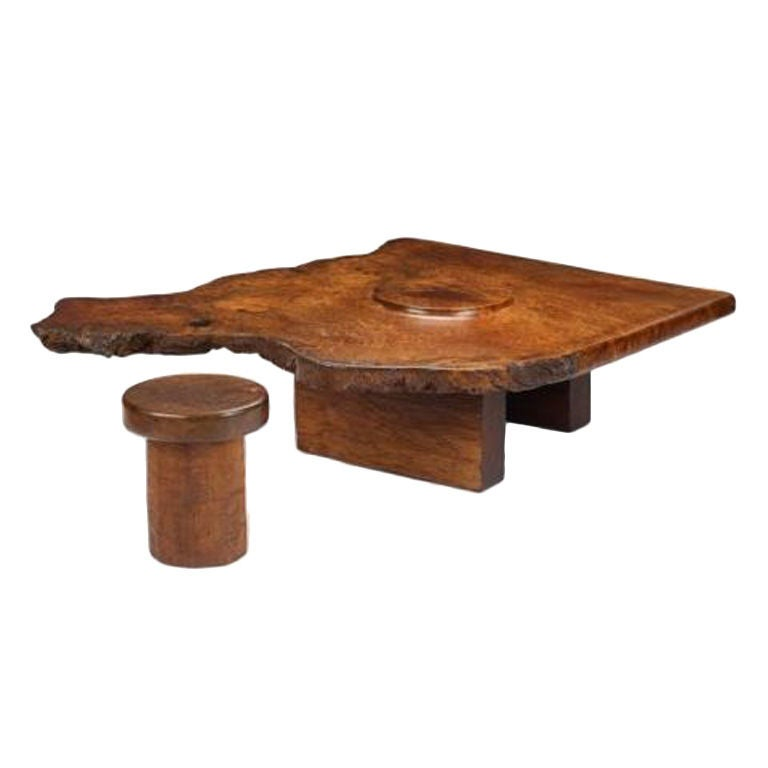 J B Blunk Coffee Table And Stool At 1stdibs