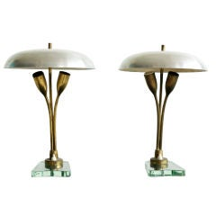 Pair of Tulip Lamps
