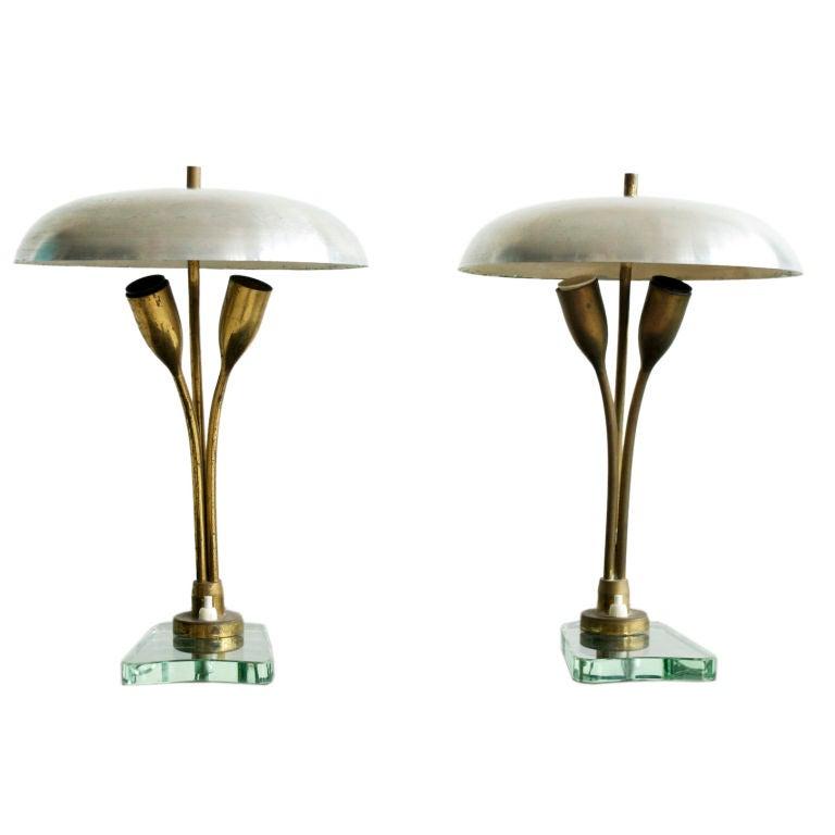Pair of Tulip Lamps