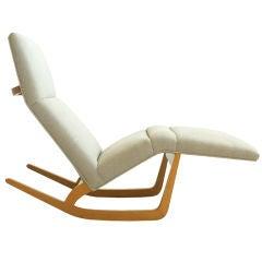 Francis Jourdain Adjustable Chair And Ottoman At 1stdibs