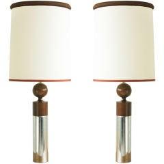 Pair Of 70's Lamps