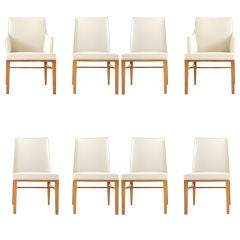 Set of 8 dinning chairs by EDWARD WORMLEY