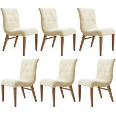 SET OF SIX DINNING CHAIRS BY EDWARD WORMLEY