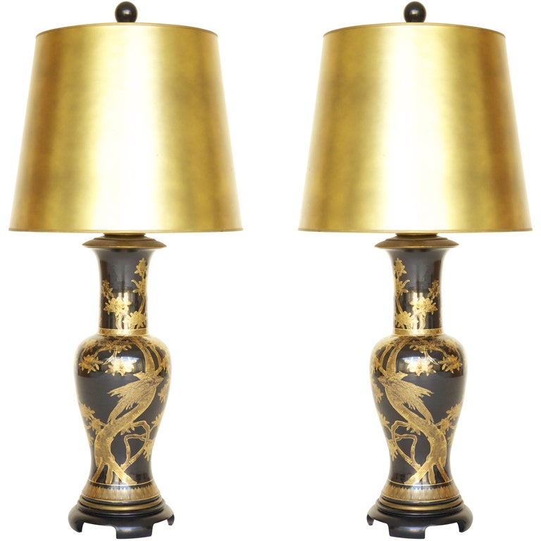 Pair Of Paul Hanson Lamps At 1stdibs