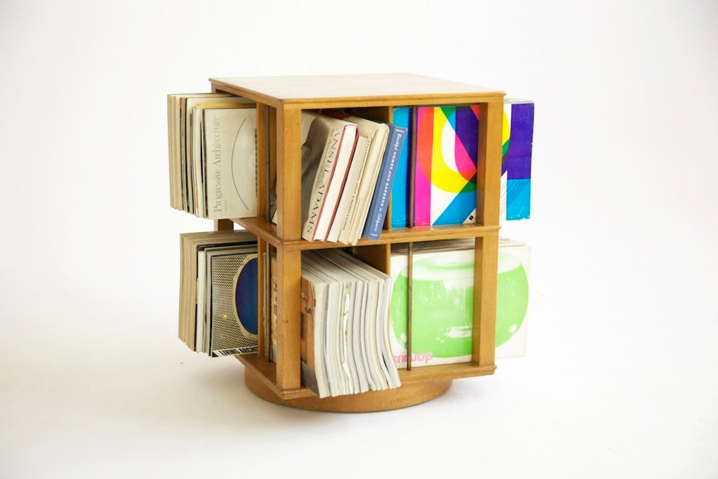 Edward wormley revolving book case at 1stdibs for Domus book collection