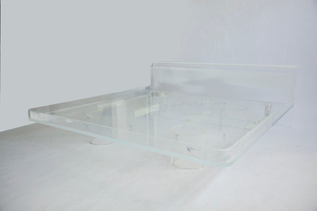 lucite king sized bed at 1stdibs
