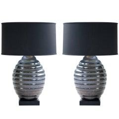 Pair of Marbro Beehive Lamps