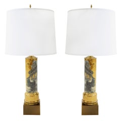 Pair of Fornasetti Style Lamps